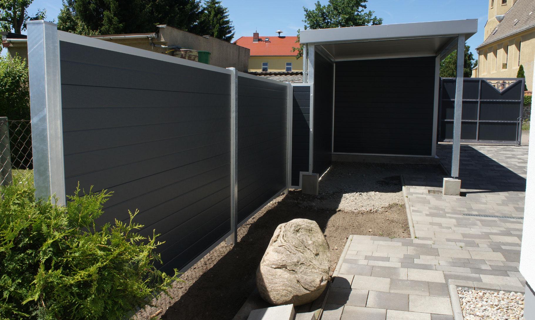 WPC Sichtschutz Zaun blickdicht für Ihren Garten